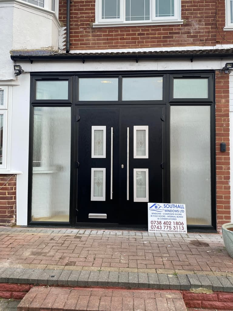 Black double Composite door in Wembley