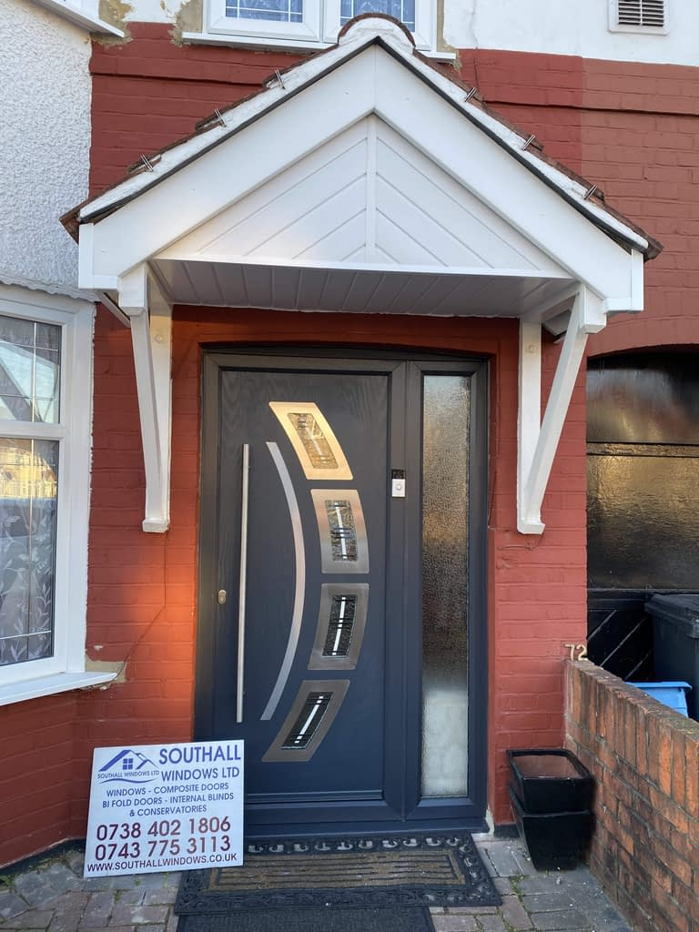 Grey Composite door in Hounslow