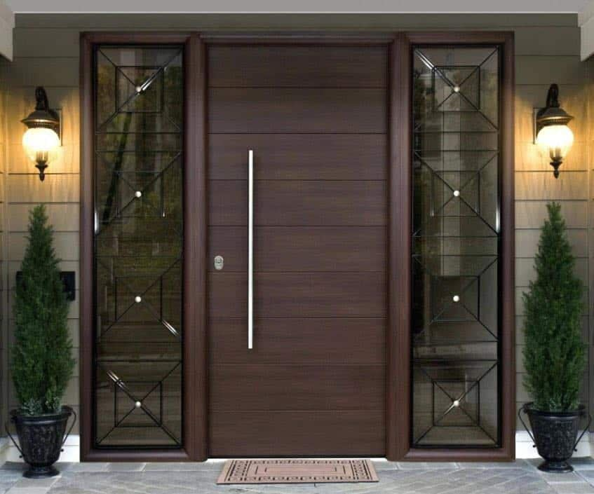 composite door oak color double glazing