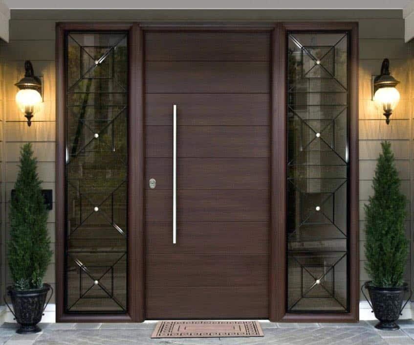 composite door oak color double glazing